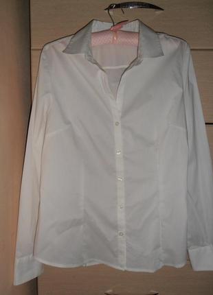 Брендовая стильная белая рубашка