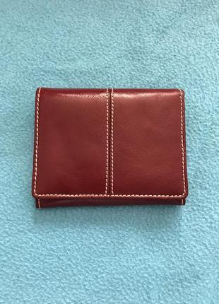 Кожаный кошелёк от marks&spencer бордового цвета