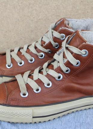 Зимние ботинки converse кожа 37.5р оригинал кеды