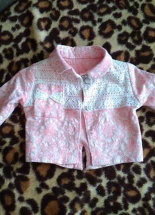 Піджачок для юної модниці розмір 74-86