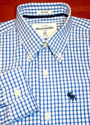 Abercrombie & fitch шикарная рубашка на парня - 170