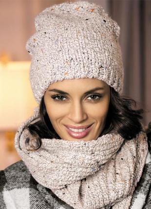 Комплект шапка и шарф от kamea - ameli, комплект камеа