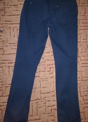 Темно-синие штаны ostin studio