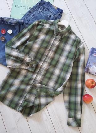 John rocha  дизайнерская хлопковая клетчастая рубашка