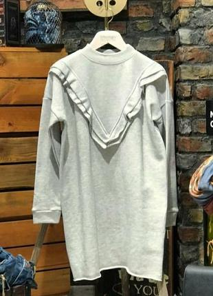 Платье туника с рюшами