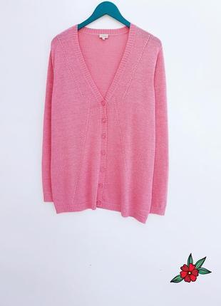 Нежно розовый свитер кардиган нежный свитер большой размер батал