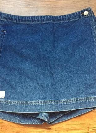 Джинсовые шорты, джинсовая юбка
