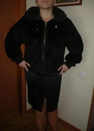 Куртка мех шуба sonia rykiel натуральна двостороння! капюшон.
