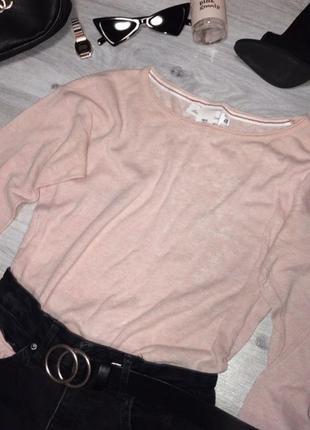 Нежный розовый свитерок кофта 💕