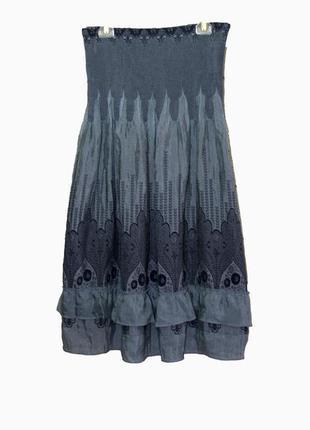 Cirana/красивая летняя юбка-миди  в бохо-стиле