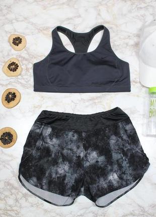 Обнова! спорт шорты серые принт качество бренд active by tchibo