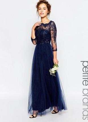 Шикарнейшее платье в пол с вышивкой от chi chi london вечернее выпускное торжественное