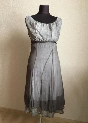 Платье летнее,шелк, хлопок.италия