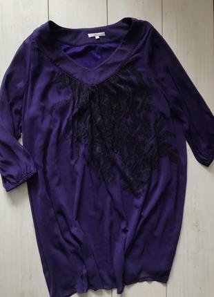 Фиолетовая блузка с пайетками