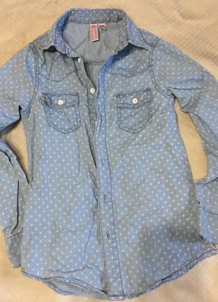 Рубашка котоновая 10-13 лет