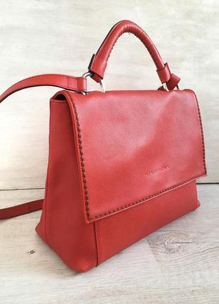 Новинка !морковная кожаная итальянская сумка