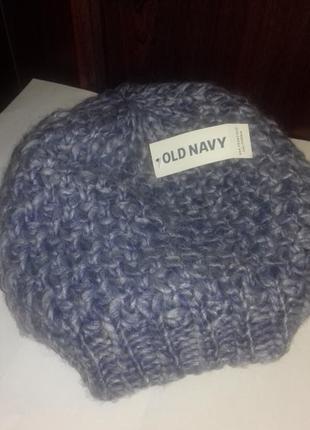 Сота-вязаная шапочка для женщин, олд неви, достаточно объемная