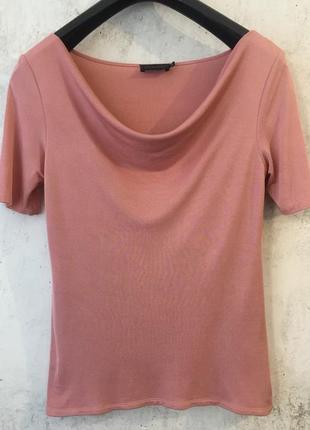 Блуза/кофточка классика из натурального шёлка, пыльная роза