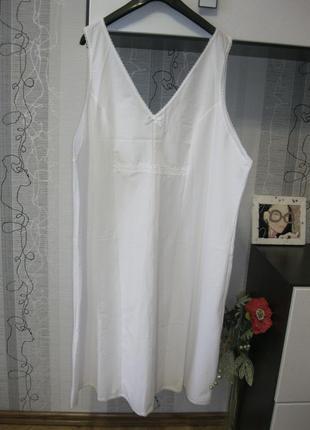 Новое белое ночное дневное платье сорочка женственно большой батал хххххл 58-60-62-64-66