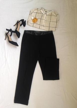 Модные классические прямые черные брюки
