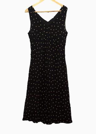 Красивый летний шифоновый сарафан/платье в горошек