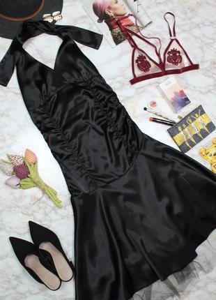 Обнова! платье сатин миди с фатиновой юбкой а-силуэт