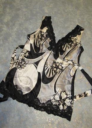 Топ блуза из натурального шелка с нежными кружевами от oasis р.10 м, доступная роскошь!