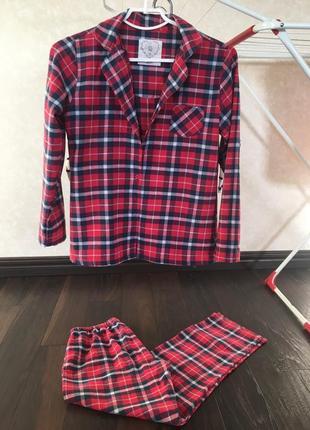 Пижама в клетку boux avenue 100% хлопок