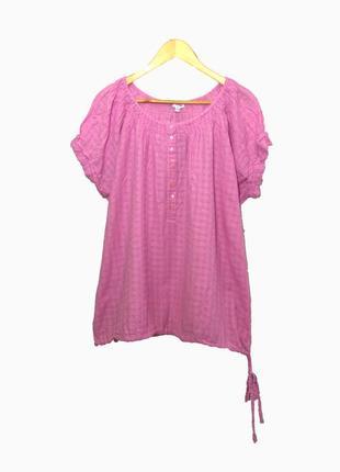 Красивая котоновая блуза большого размера uk22-24