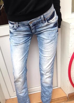 Голубые джинсы,синие джинсы низкая средняя посадка,варенки,крутые зауженные джинсы