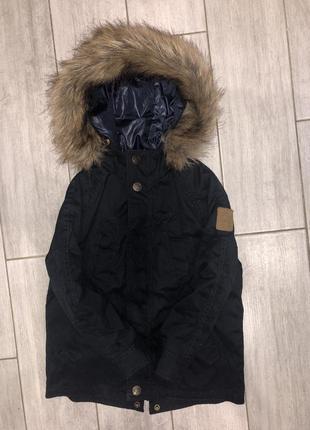 Классная, демисезонная курточка, парка 2 в 1 zara boys 4-5 лет