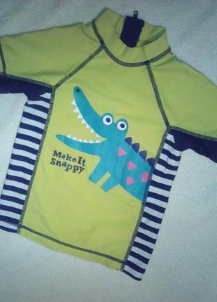 Кофточка для купания с крокодилом на мальчугана 3/4года