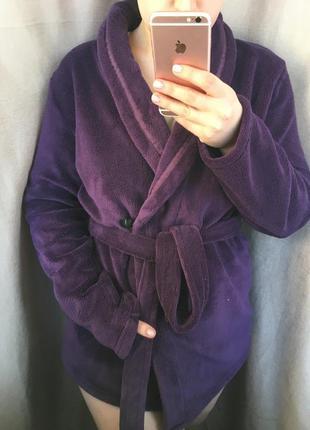 Махровый,укорочённый халат под пояс!
