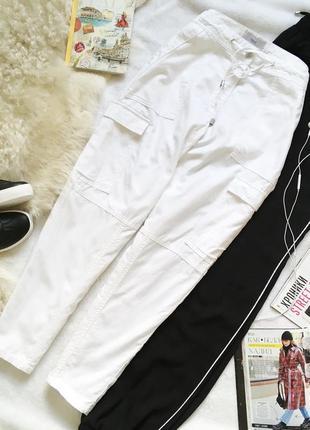 Белоснежные хлопковые брюки для спорта/прогулок next