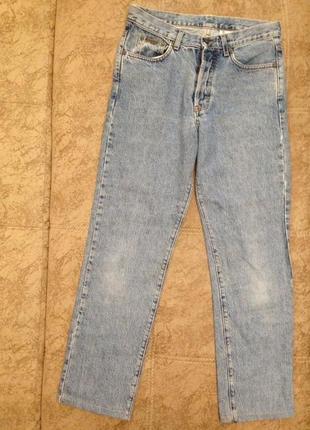 Оригинальные голубые джинсы варенки calvin klein, мамс джинс, мам джинс,джинсы оверсайз