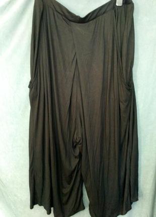Красивые широкие тонкие брюки-юбка р.22