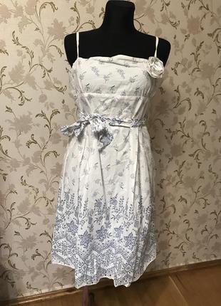 Шикарное нежное платье котон р.l-xl