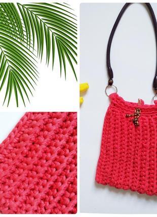 Тропическая плетёная сумка casual