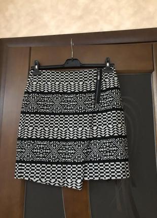 Твидовая юбка карандаш мини от marks & spencer англия на наш 46-48. супер!