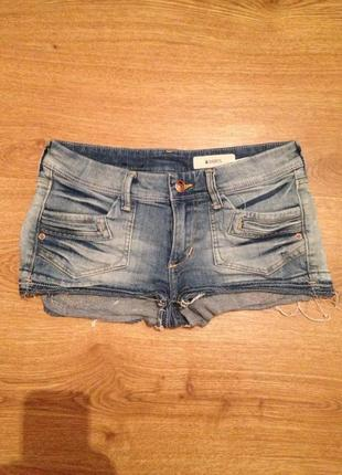 Стильные джинсовые короткие шорты / h&m /xs