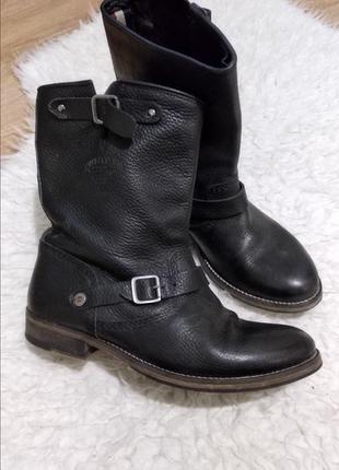 Ботинки натуральная кожа tommy hilfiger