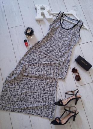 Glow стильное  трикотажное платье в пол  чулок  в сердечка s-m