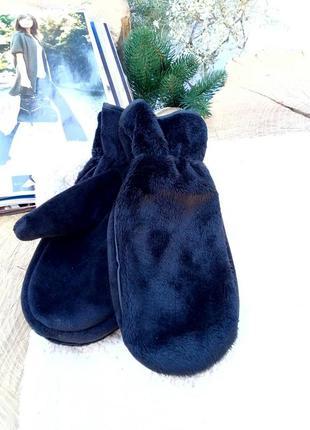 🔥теплые плюшевые рукавички р m