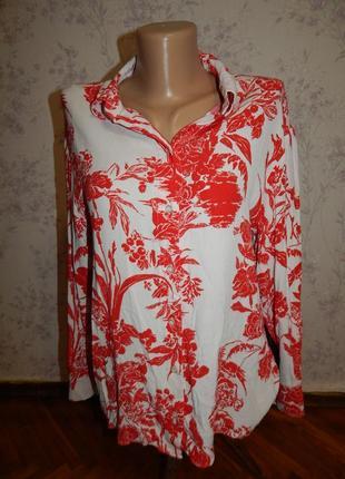 H&m блузка вискозная стильная модная р10