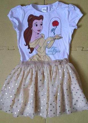 Платье с бель от disney на 7-8 лет (134 см.)