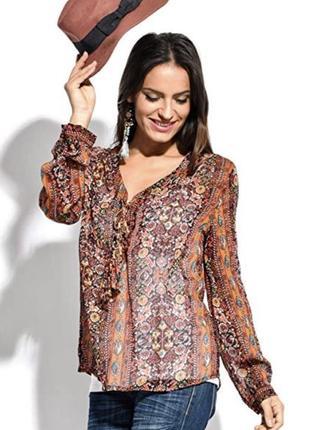 Новая 👑♥️👑вискозная блузка в этно стиле miss june paris.