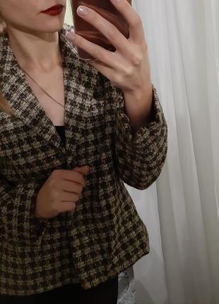 Эксклюзивный шерстяной жакет, пиджак