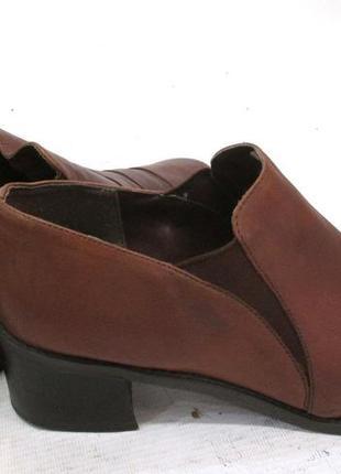 Кожаные туфли дорогого бренда