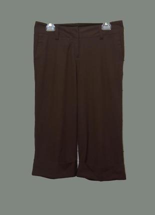 Укороченные брюки-кюлоты с манжетами