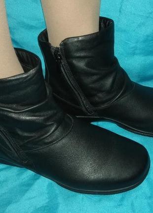 Кожаные демисезонные ботинки hotter (англия) р 38 отлич сост